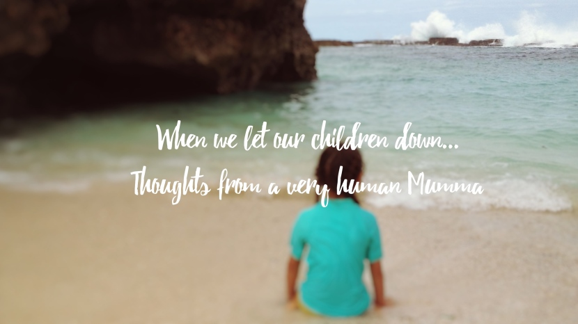 When we let our children down…